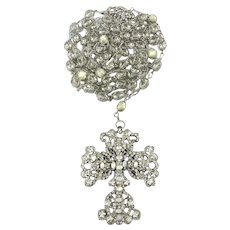 Lavish Maria Elena Wedding Lazo Rosary Big Swarovski Crystals