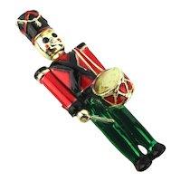AJC Enamel Christmas Drummer Boy Soldier Pin Brooch