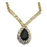 Pretty TRIFARI Rhinestone Necklace