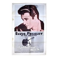 Original 1957 Rare ELVIS PRESLEY Jailhouse Rock One-Sheet Movie Poster