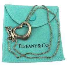 Tiffany & Co. Elsa Peretti Sterling Silver Heart Pendant Necklace