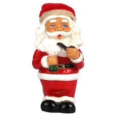 Vintage Santa Claus Molded Rubber Figural Bank