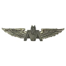 Vintage Silver-Filled AA American Airlines Wings Pin