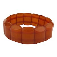 Vintage Genuine Baltic Amber Stretch Bead Bracelet