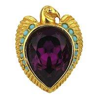 Vintage Elizabeth Taylor Avon Egyptian Revival Cleopatra Ring