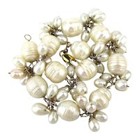 Pretty White Cultured Baroque Pearl Bracelet