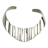 Taxco Mexican Sterling Silver Torque Band Necklace