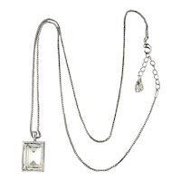Swarovski Crystal Cube of Two Colors Necklace Pendant