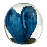 Vintage STRATHEARN Art Glass Paperweight - Handmade in Scotland