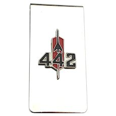 Classic Oldsmobile 442 Rocket Stainless Steel Money Clip