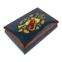 Fine inlaid Wood BOHME Vintage Music Box - Germany - Mozart