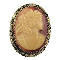 Vintage Costume CAMEO Lady Pin or Pendant