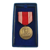 Original 1940s GOOD CONDUCT Medal in Box