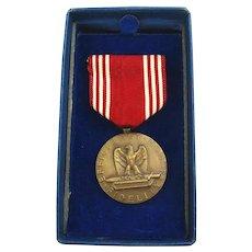 Original 1940s GOOD CONDUCT Medal in Box