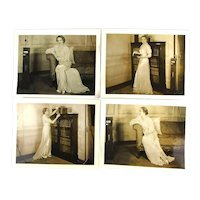 Set of 4 Original 8 x 10 Sepia Promo Photos Mary Pickford c1935