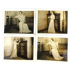 Set of 4 Original 8 x 10 Sepia Promo Photos Mary Pickford c1935