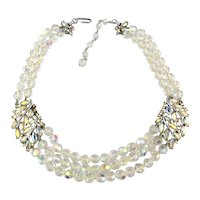 Ultimate TRIFARI Necklace Rhinestones Crystal Beads