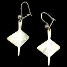 AGE Anna Greta Eker Norway Modernist Sterling Silver Earrings