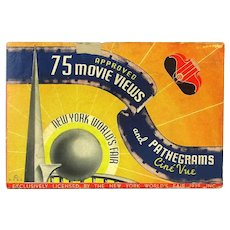 1939 New York World's Fair Movie Views Pathegrams Viewer in Box Art Deco