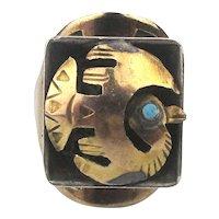 Peru Sterling Silver 18K Gold Bird Ring