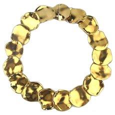 Bold Goldtone CINER Pods Necklace