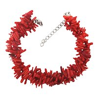 Pretty Red Branch Coral Bracelet