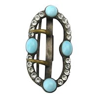 Old Victorian Jeweled Belt Buckle Pendant
