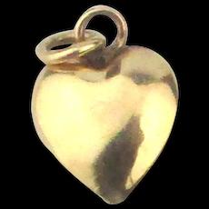 Tiny 14K Gold Puffy Heart Charm