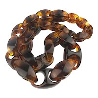 SOLD TO C.L. - Amazing Lucite Tortoise Swirl Necklace Big n Bold