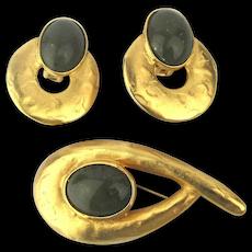 Modernist Jacqueline Ferrar Pin Earrings Set