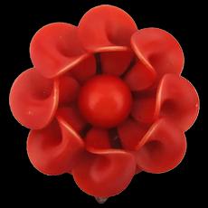 Art Deco Era Celluloid Flower Dress Clip
