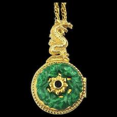 Edgar Berebi Limited Edition Enamel Locket Pendant Necklace Old Style Chinese