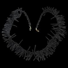 Vintage Natural Black Branch Coral Necklace Long n Wild