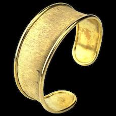 Gilded Sterling Silver Cuff Bracelet Unique Italian Design