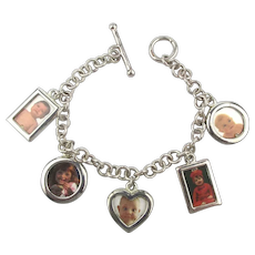 Picture Frame Gallery Sterling Silver Charm Bracelet