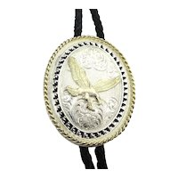 Vintage Montana Silversmiths Bolo Neck Tie Soaring Eagle