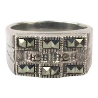 Sterling Silver Marcasite Ring Nice Design