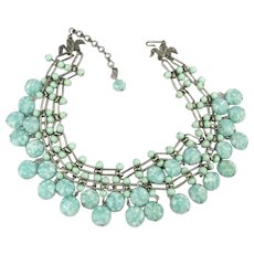 KRAMER Speckled Glass Bead Two Strand Necklace