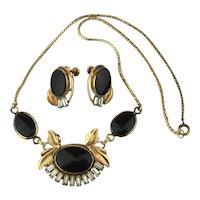 Elegant VAN DELL Gold-Filled Set Necklace w/ Earrings