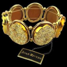 Joan Rivers Doozy of a Druzy Quartz Stretch Bracelet