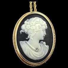 Vintage AVON Cameo Pin Pendant Necklace w/ Story