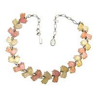 1950s Fruit Salad Glass Necklace