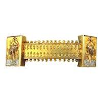 Antique 14K Gold Victorian Pin Brooch Wading Bird Exceptional Work