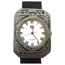 Sterling Silver Marcasite Watch Bracelet ~G~