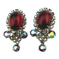 Gorgeous Vintage Rhinestone Clip Earrings