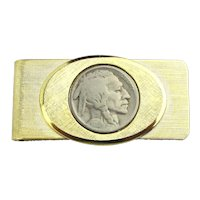 Vintage Dateless Buffalo Nickel Money Clip