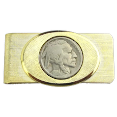 Vintage Dateless Buffalo Nickel Money Clip