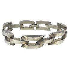 Vintage Stainless Steel Link Bracelet