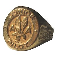 1950s American Airlines AA Junior Pilot Brass Ring Premium