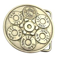 Vintage Smith & Wesson .357 Magnum Belt Buckle 1980